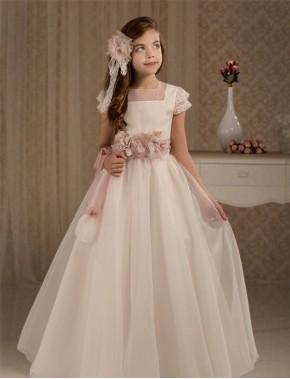 Vestido comunión niña, CEMAROS , modelo Q172, COLECCIÓN MODAS ALPI (VALLADOLID)