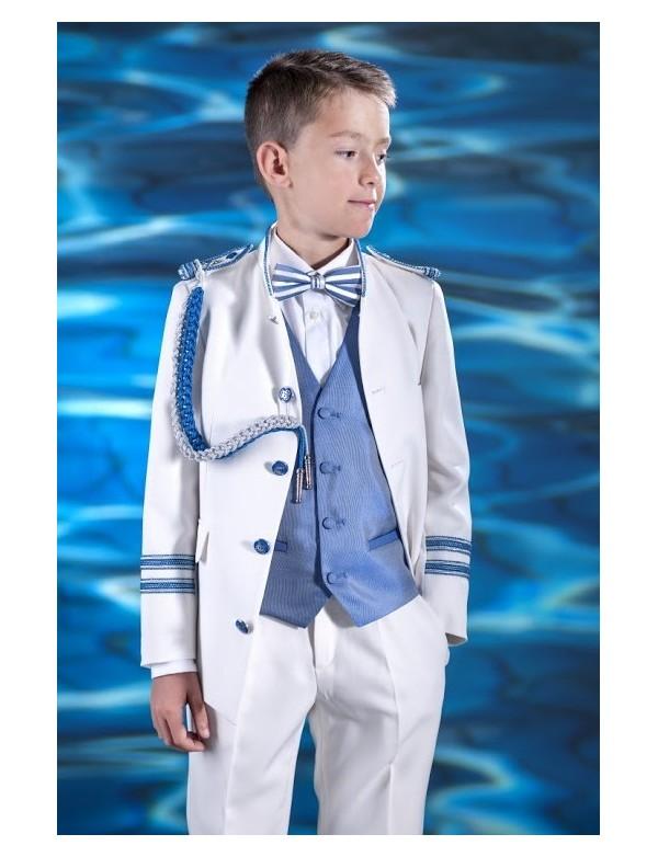 Traje de comunión niño 2016 Almirante de VARONES, modelo Capitán Blanco.