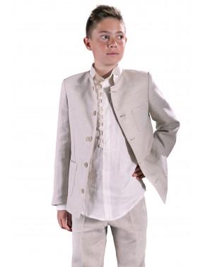Traje de comunión niño de calle de lino, VARONES, modelo 3026, ALPI Moda Infantil (Valladolid)
