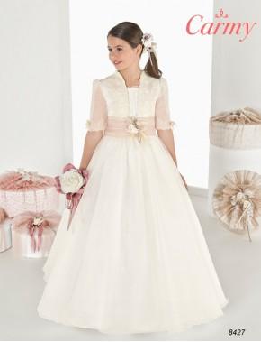 Vestido comunión niña, CARMY , modelo 8427, COLECCIÓN MODAS ALPI (VALLADOLID)