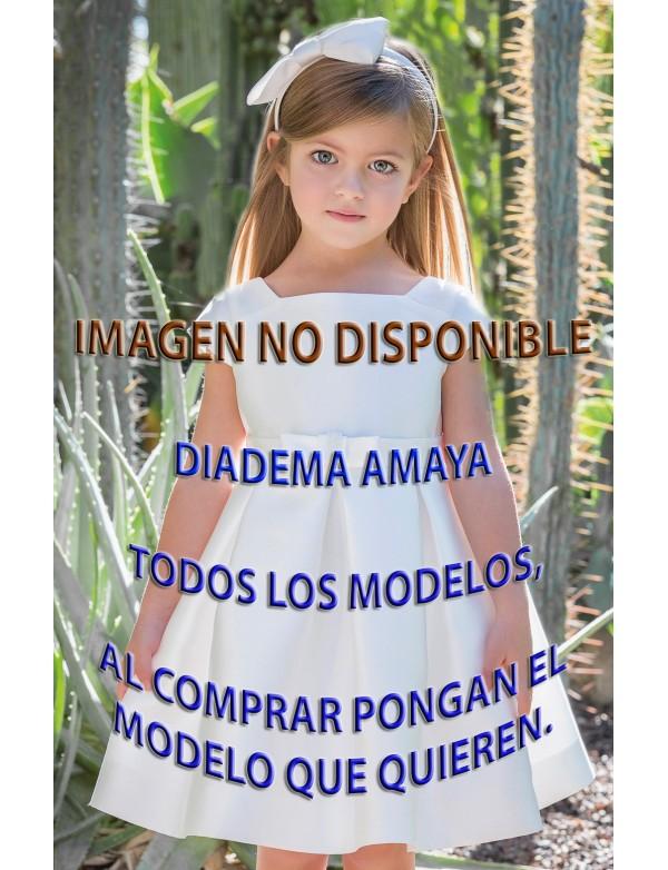 Diadema de vestido de arras fiesta ceremonia, 2018, AMAYA modelo TODOS