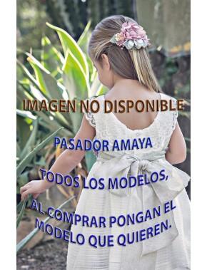 Pasador de vestido de arras ceremonia y fiesta de niña AMAYA modelo 111701P NUEVA COLECCIÓN 2018