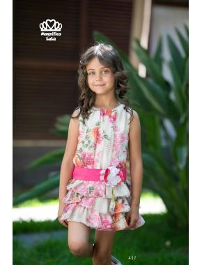 Vestido de arras ceremonia fiesta de niña, MAGNÍFICA LULU 2018 NUEVA COLECCIÓN, modelo 422