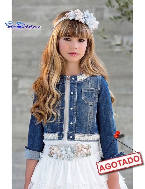 8997a5b9e Bolero chaqueta cazadora de arras ceremonia y fiesta de niña NUEVA  COLECCIÓN 2018 AMAYA modelo 111899H
