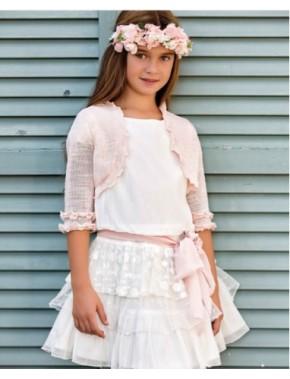 Bolero de arras ceremonia y fiesta de niña NUEVA COLECCIÓN AMAYA modelo 537818H