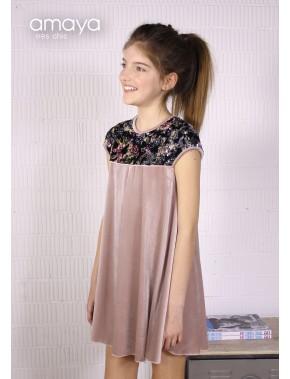 Vestido de arras ceremonia fiesta de niña OTOÑO INVIERNO 2018-19,AMAYA NUEVA COLECCIÓN TRES CHIC, modelo 210881