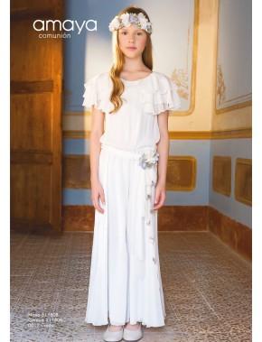 Vestido comunión niña, AMAYA, modelo 311808, ALPI Moda Infantil (Valladolid)