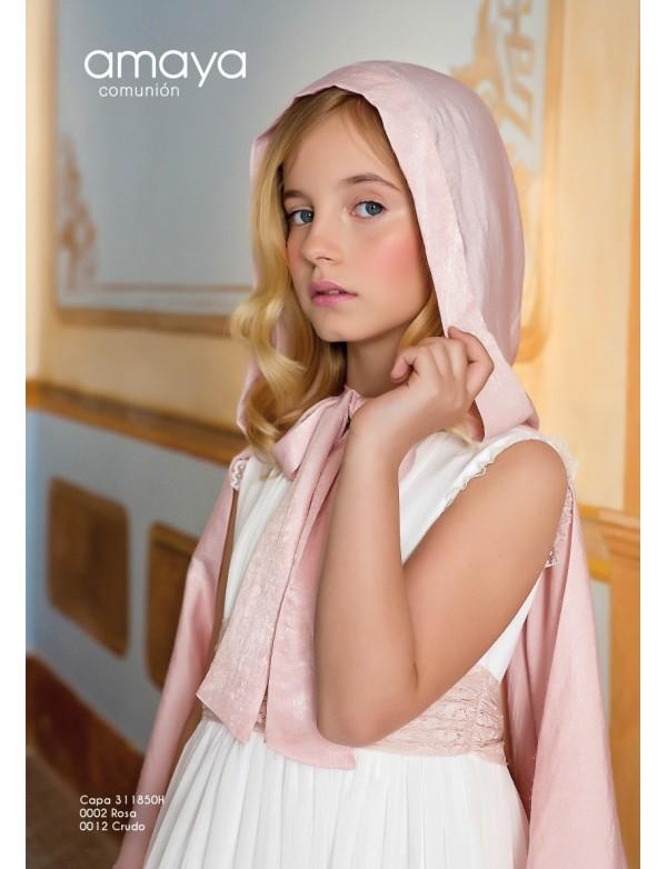 Capa para vestido comunión niña, AMAYA, modelo 111850, ALPI Moda Infantil (Valladolid)