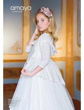 Bolero chaqueta para vestido comunión niña, AMAYA, modelo 311894H, ALPI Moda Infantil (Valladolid)