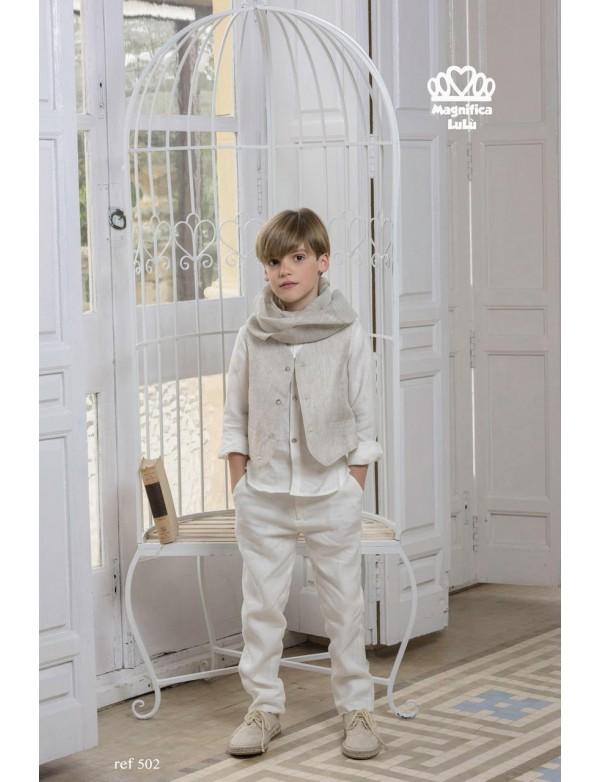 Traje de comunión de calle de niño, MAGNIFICA LULU, modelo 502, ALPI Moda Infantil (Valladolid)