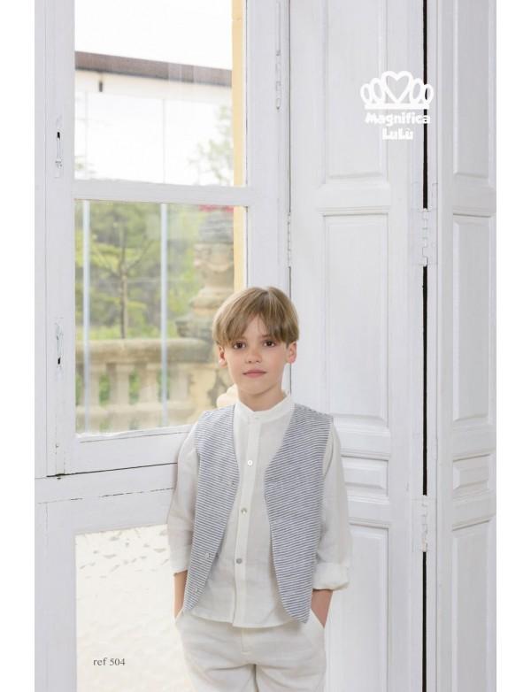 Traje de comunión de calle de niño, MAGNIFICA LULU, modelo 504, ALPI Moda Infantil (Valladolid)