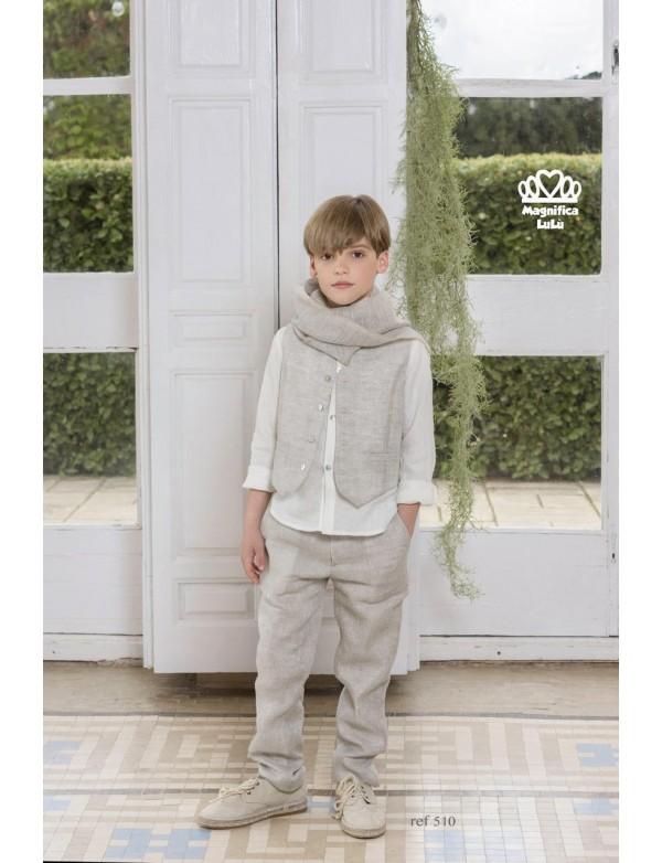 Traje de comunión de calle de niño, MAGNIFICA LULU, modelo 510, ALPI Moda Infantil (Valladolid)