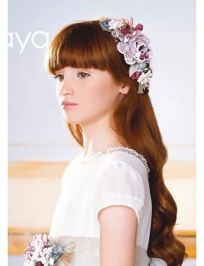 Prendedor para vestido comunión niña, AMAYA, modelo 311904P, ALPI Moda Infantil (Valladolid)