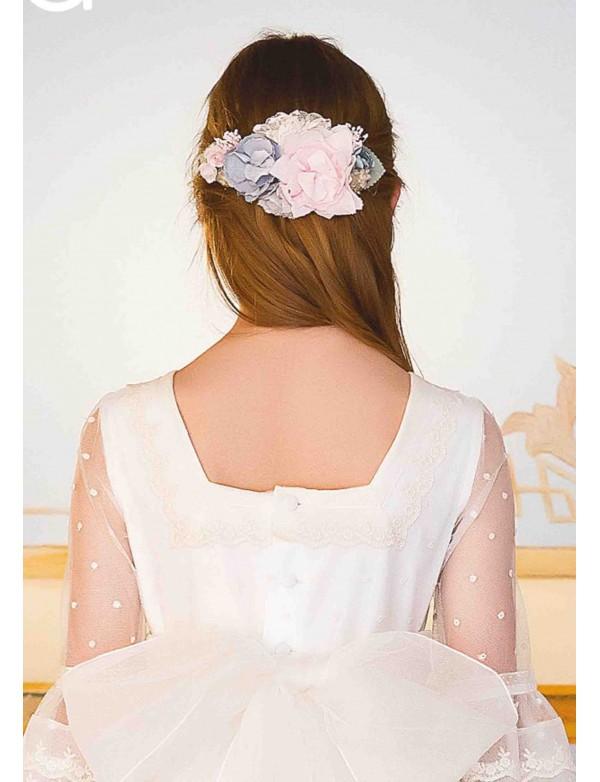 Prendedor para vestido comunión niña, AMAYA, modelo 311916P, ALPI Moda Infantil (Valladolid)
