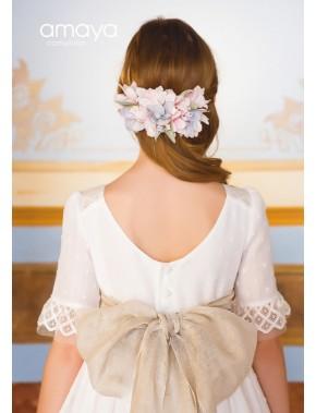 Prendedor para vestido comunión niña, AMAYA, modelo 311919P, ALPI Moda Infantil (Valladolid)