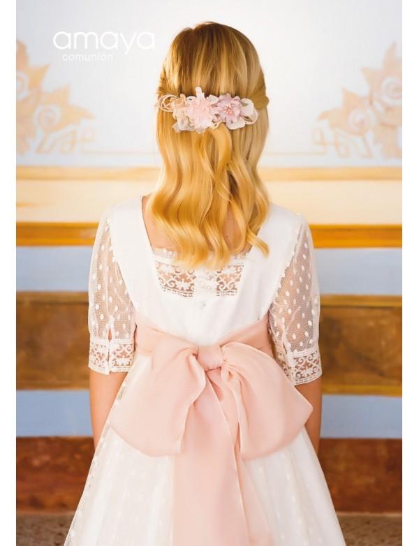 Prendedor para vestido comunión niña, AMAYA, modelo 311927P, ALPI Moda Infantil (Valladolid)