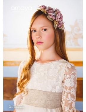 Prendedor para vestido comunión niña, AMAYA, modelo 311947P, ALPI Moda Infantil (Valladolid)