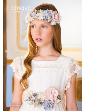 Tocado corona comunión niña, AMAYA, modelo 311916C, ALPI Moda Infantil (Valladolid)