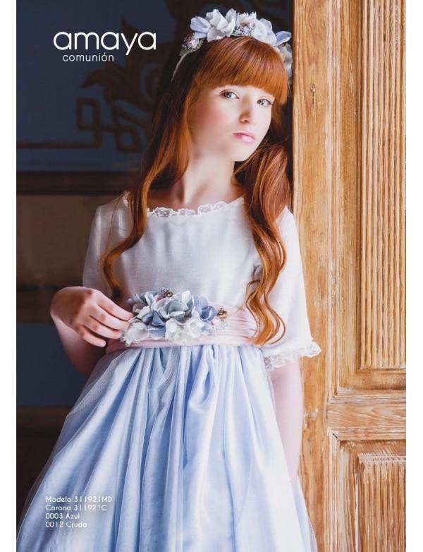 Tocado corona comunión niña, AMAYA, modelo 311921C, ALPI Moda Infantil (Valladolid)
