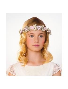 Tocado corona comunión niña, AMAYA, modelo 311931C, ALPI Moda Infantil (Valladolid)
