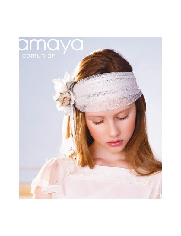 Tocado corona comunión niña, AMAYA, modelo 311926TP, ALPI Moda Infantil (Valladolid)