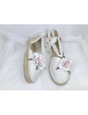 Esparteña o Alpargata para vestido de primera comunión niña, JUANA SANCHEZ, modelo, 10044, ALPI Moda Infantil (Valladolid)