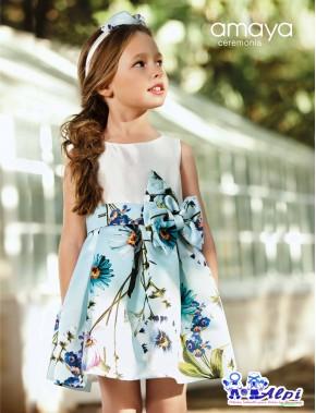 Vestido de niña de arras ceremonia fiesta, Artesanía AMAYA 2019 NUEVA COLECCIÓN, modelo 311425