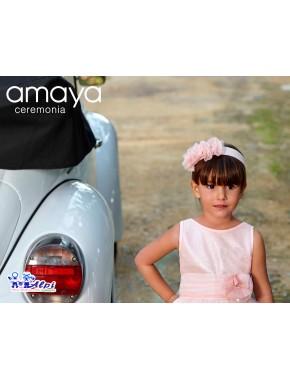Diadema de vestido de niña de ceremonia, arras y fiesta, Nueva Colección AMAYA Collection Ceremony, modelo 311420D