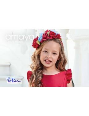 Diadema de vestido de niña de ceremonia, arras y fiesta, Nueva Colección AMAYA Collection Ceremony, modelo 311433D