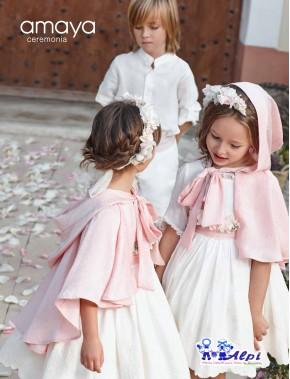 Capa de niña de ceremonia, arras y fiesta NUEVA COLECCIÓN AMAYA 2019 modelo 311850H