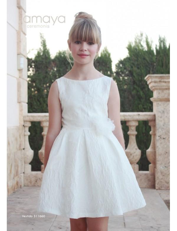 Vestido de niña de arras ceremonia fiesta, Artesanía AMAYA 2019 NUEVA COLECCIÓN, modelo 311409