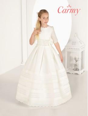 Vestido comunión niña, CARMY , modelo 7325 Modas Alpi Moda Infantil (Valladolid)