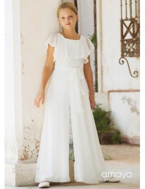 Vestido comunión niña, AMAYA, modelo 516009MC, ALPI Moda Infantil (Valladolid)