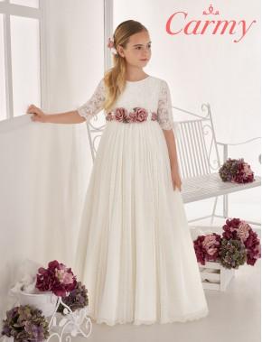 Vestido comunión niña, CARMY , modelo 635 Modas Alpi Moda Infantil (Valladolid)