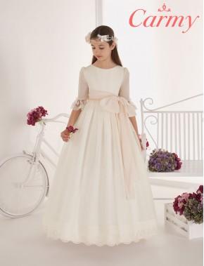 Vestido comunión niña, CARMY , modelo 702 Modas Alpi Moda Infantil (Valladolid)