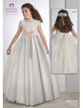 Vestido comunión niña, MONTSERRAT LOZANO, modelo 2055, ALPI Moda Infantil (Valladolid)