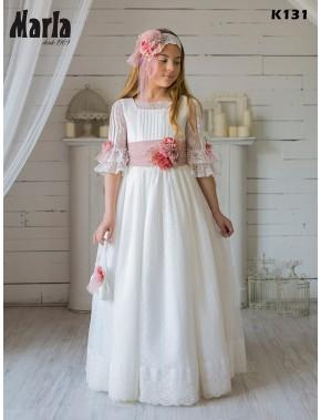 Vestido comunión niña, MARLA , modelo K131, COLECCIÓN ALPI MODA INFANTIL (VALLADOLID)