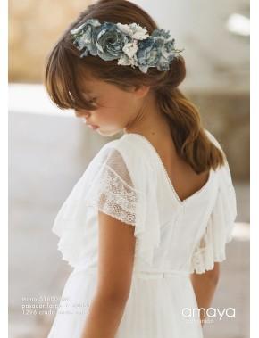 Prendedor para vestido comunión niña, AMAYA, modelo 516006P, ALPI Moda Infantil (Valladolid)