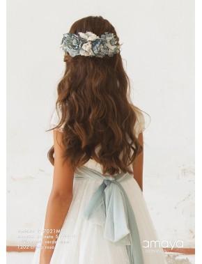 Prendedor para vestido comunión niña, AMAYA, modelo 517021P, ALPI Moda Infantil (Valladolid)
