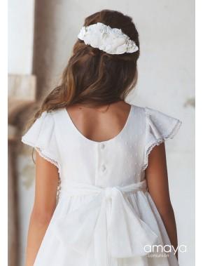 Prendedor para vestido comunión niña, AMAYA, modelo 517102P, ALPI Moda Infantil (Valladolid)