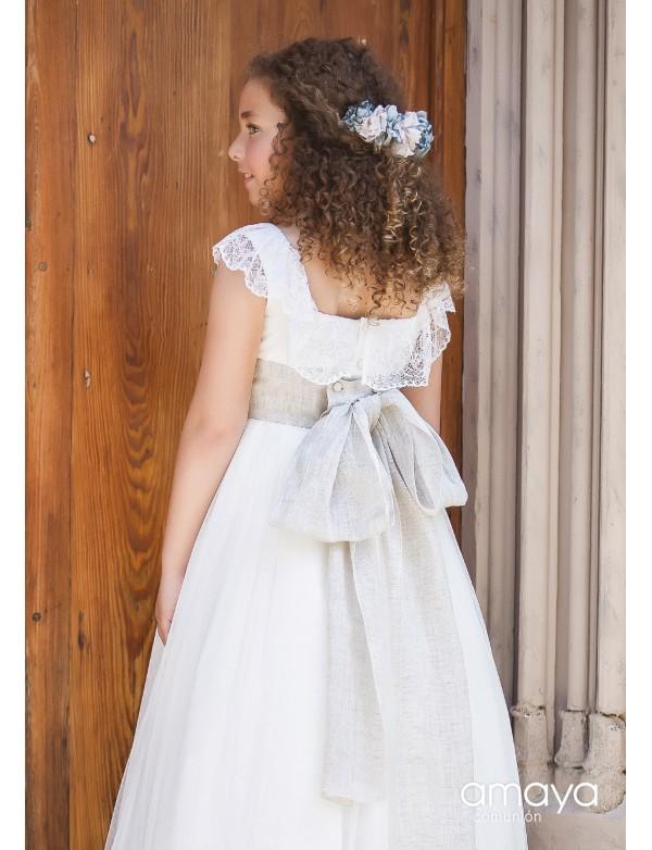 Tocado corona comunión niña, AMAYA, modelo 517000C, ALPI Moda Infantil (Valladolid)