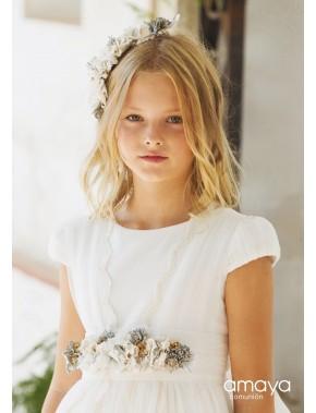 Tocado corona comunión niña, AMAYA, modelo 517030C, ALPI Moda Infantil (Valladolid)