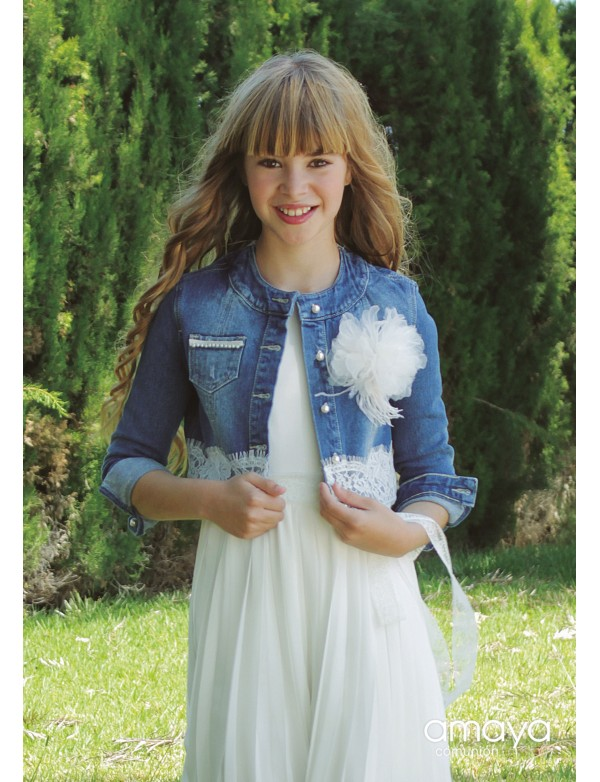 Bolero chaqueta para vestido comunión niña, AMAYA, modelo 517809H, ALPI Moda Infantil (Valladolid)