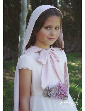 Capa para vestido comunión niña, AMAYA, modelo 517813H, ALPI Moda Infantil (Valladolid)