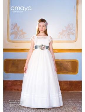 Vestido de comunión niña, AMAYA, modelo 311906MC, ALPI Moda Infantil (Valladolid)