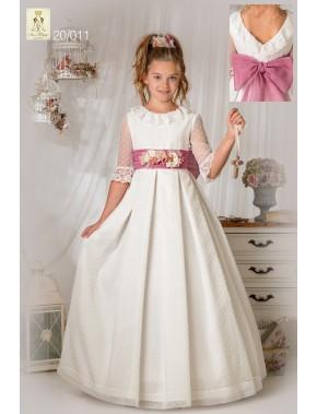 Vestido comunión niña, AVE MARIA - MOVA MODA, modelo 20011, COLECCIÓN MODAS ALPI (VALLADOLID)