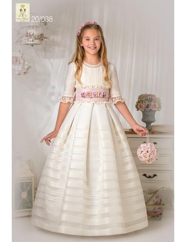 Vestido comunión niña, AVE MARIA - MOVA MODA, modelo 20038, COLECCIÓN MODAS ALPI (VALLADOLID)