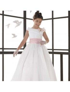 Vestido comunión niña, CARMY , modelo 5409, COLECCIÓN MODAS ALPI (VALLADOLID)