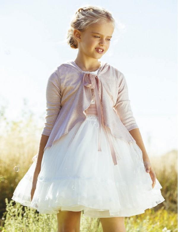 Capa para vestido niña de arras ceremonia fiesta, Artesanía AMAYA 2020 COLECCIÓN, modelo 513069H Alpi Monda Infantil Valladolid