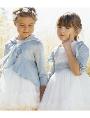 Bolero de punto para vestido niña de arras ceremonia fiesta, Artesanía AMAYA 2020 COLECCIÓN, modelo 513071H Alpi Valladolid